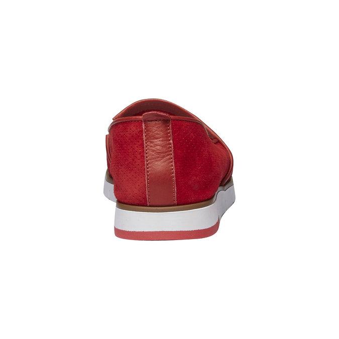 Kožené Slip-on boty s perforací flexible, červená, 513-5200 - 17