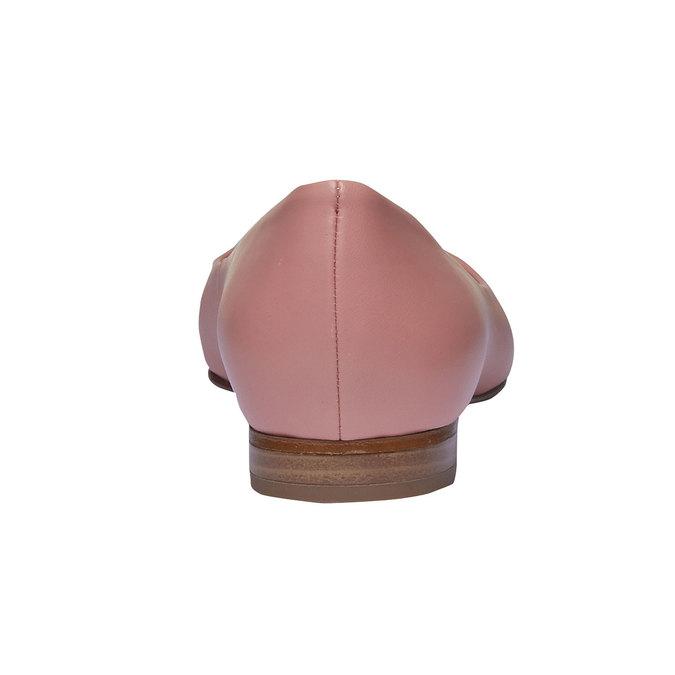 Dámské kožené baleríny do špičky bata, 524-0493 - 17
