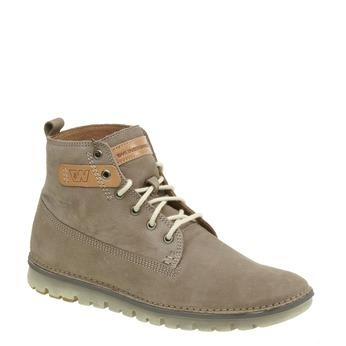 Kožená kotníčková obuv weinbrenner, hnědá, 896-2340 - 13