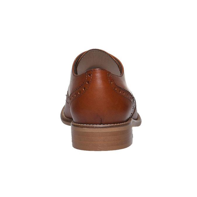 Dámské kožené polobotky se zdobením bata, hnědá, 524-3488 - 17