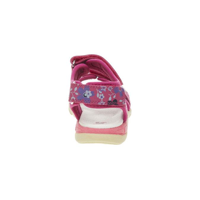Dívčí kožené sandály mini-b, růžová, 369-5500 - 17