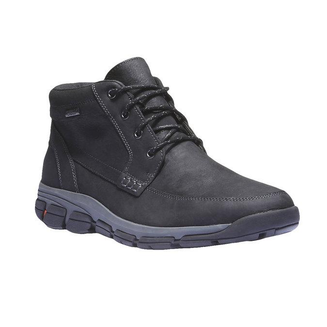 Kožená kotníčková obuv rockport, šedá, 896-6417 - 13