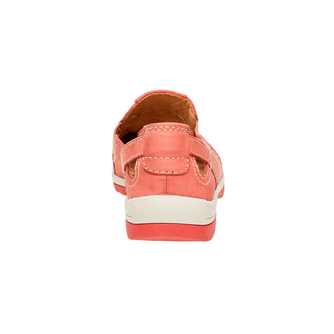 Neformální kožené polobotky bata, červená, 524-5116 - 17