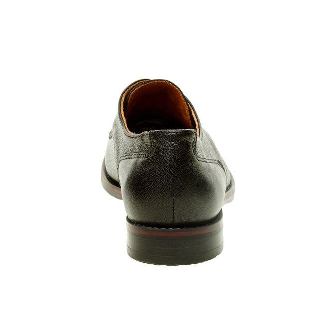 Dámské kožené polobotky bata, černá, 524-6117 - 17