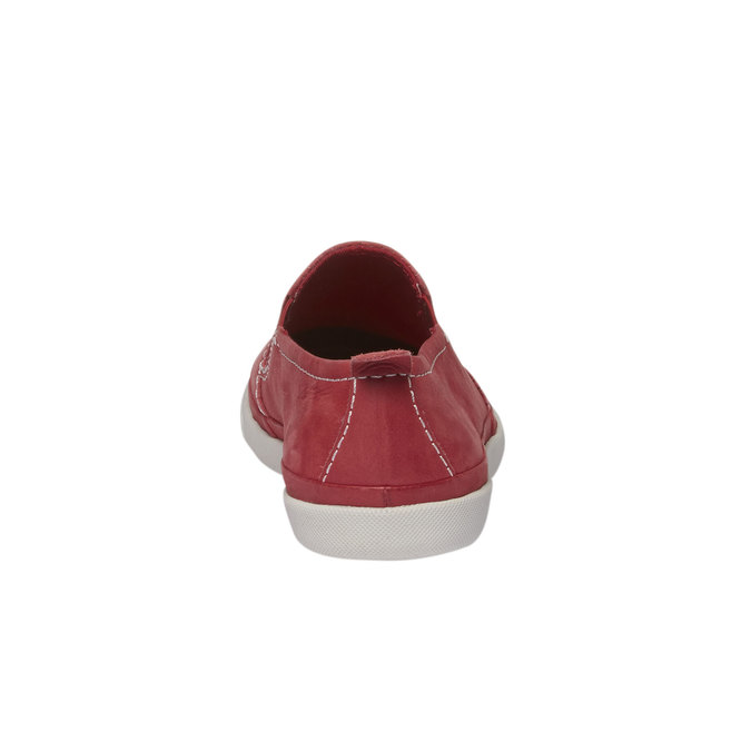 Kožené Plim Soll boty s perforací bata, červená, 514-5197 - 17