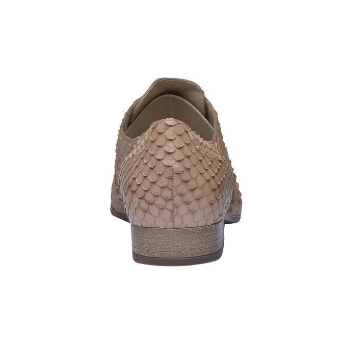 Dámské kožené polobotky bata, hnědá, 514-8212 - 17