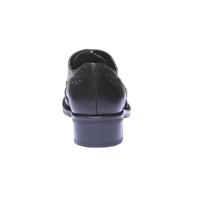 Kožené dámské polobotky bata, černá, 524-6185 - 17