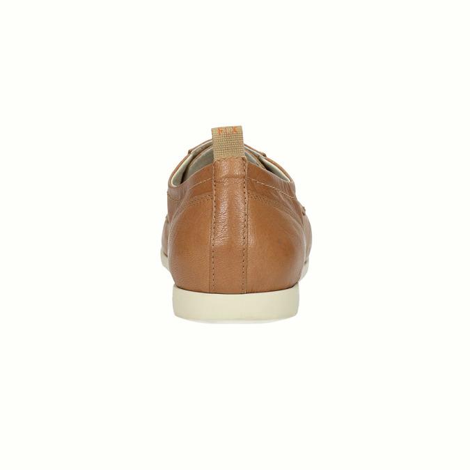 Ležérní kožené polobotky flexible, hnědá, 524-3565 - 17