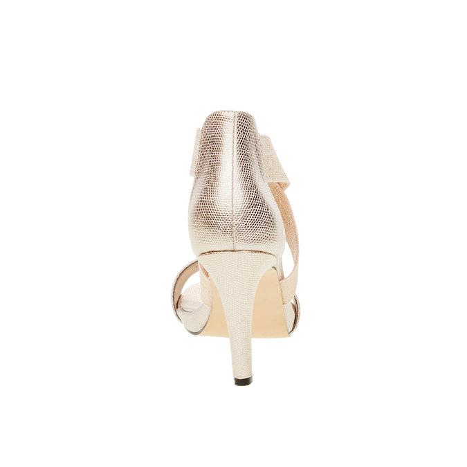 Dámské kožené sandály bata, béžová, 769-1300 - 17