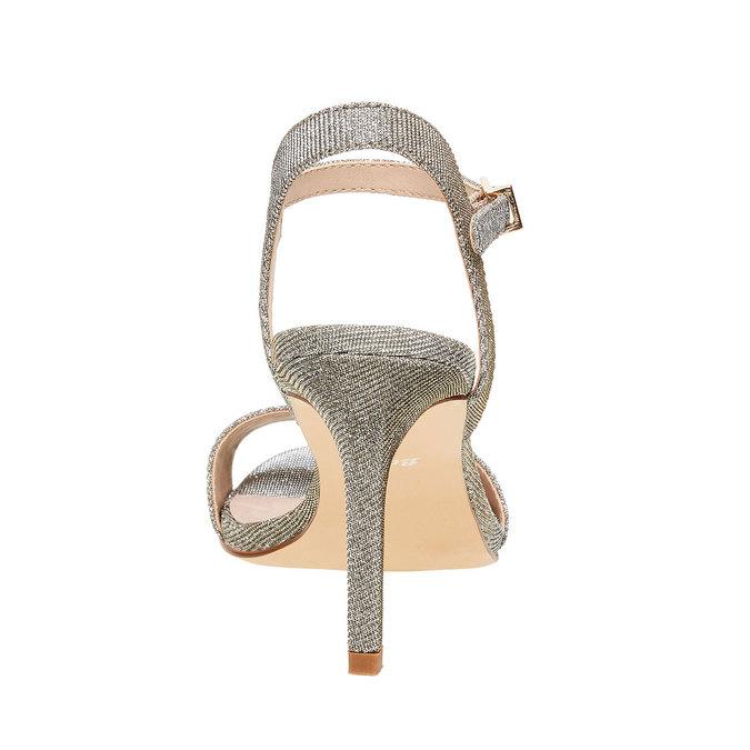 Stříbrné sandály na jehlovém podpatku bata, stříbrná, 761-1310 - 17