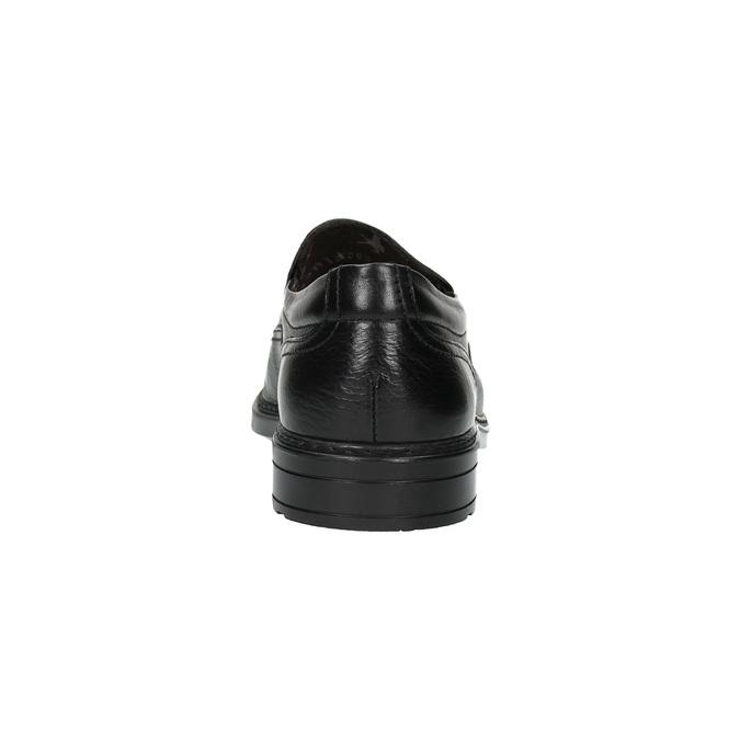 Pánské kožené mokasíny fluchos, černá, 814-6620 - 17