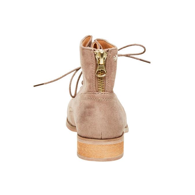 Kotníčkové boty se zipem bata, béžová, 599-2493 - 17