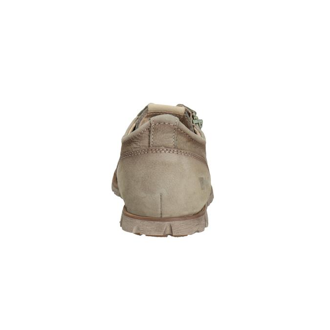 Ležérní kožené polobotky se zipem weinbrenner, hnědá, 546-8246 - 17