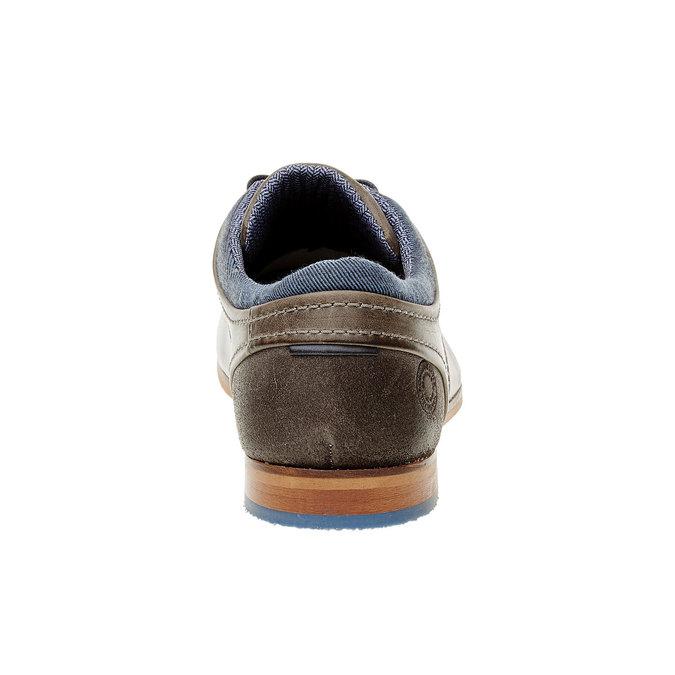 Módní kožené polobotky bata, hnědá, 824-2102 - 17