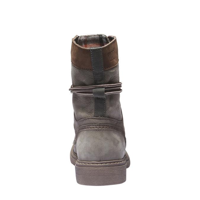 Kožené traktoráky s originálním lemem weinbrenner, šedá, 596-2170 - 17