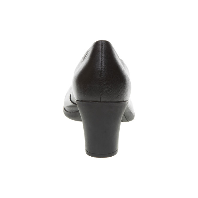Černé kožené lodičky flexible, černá, 624-6393 - 17