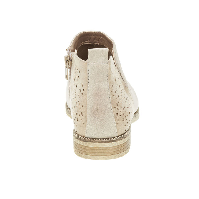 Jarní kotníčkové kozačky bata, bílá, 591-8100 - 17