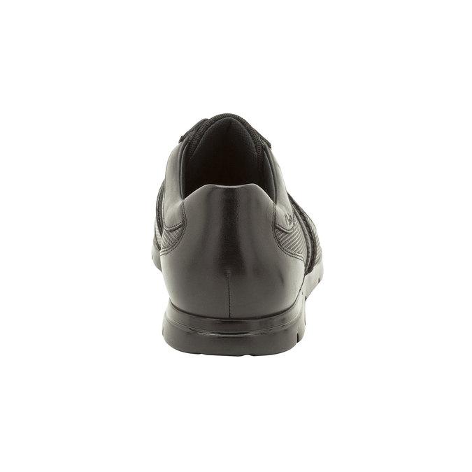 Kožené ležérní tenisky clarks, černá, 824-6308 - 17