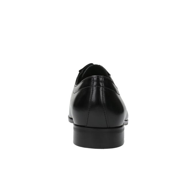 Černé kožené polobotky v Derby střihu conhpol, černá, 824-6735 - 17