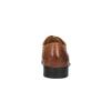 Hnědé kožené polobotky v Oxford střihu bata, hnědá, 824-3643 - 17