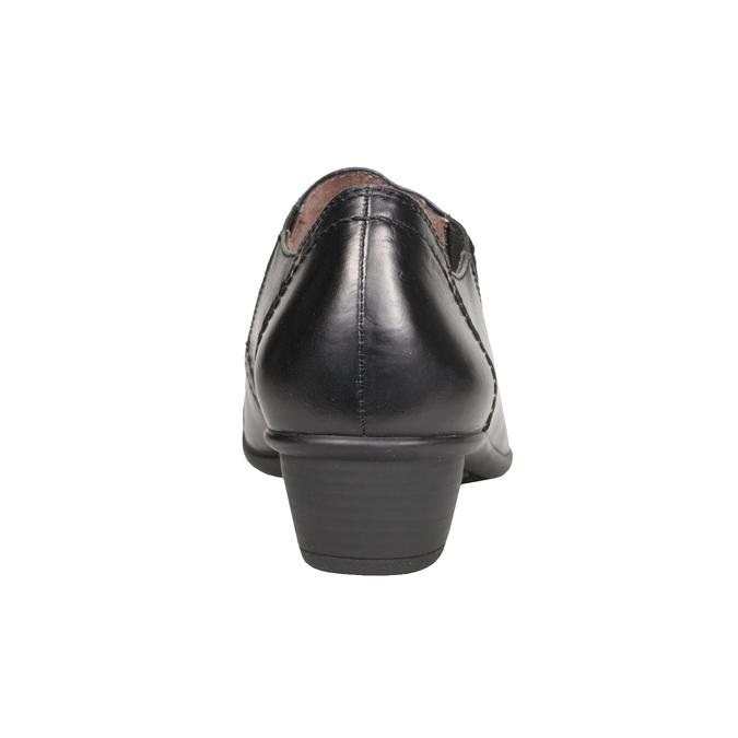 Komfortní kožená obuv bata, černá, 624-6113 - 17