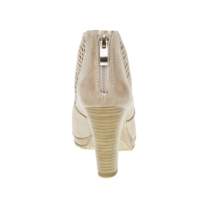 Kotníčkové kozačky na podpatku bata, béžová, 691-8106 - 17