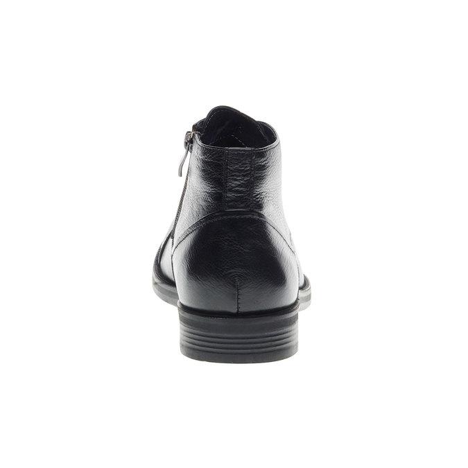 Kožené kotníkové Chukka Boots bata, černá, 894-6260 - 17