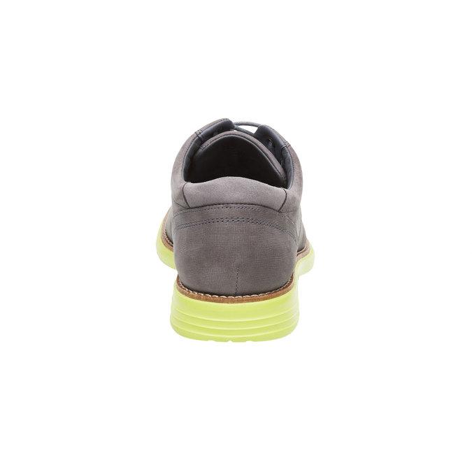 Kožené polobotky s výraznou podešví rockport, šedá, 826-2106 - 17