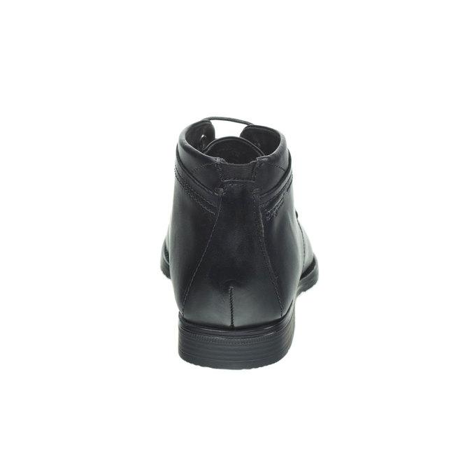 Kožené polobotky bugatti, černá, 894-6405 - 17
