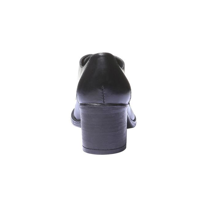 Dámské kožené polobotky na podpatku bata, černá, 724-6788 - 17