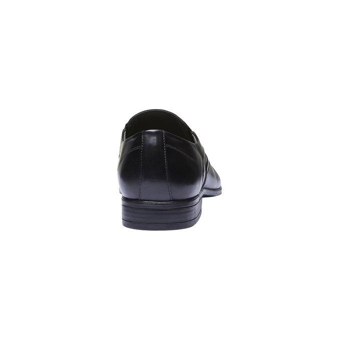 Pánské kožené polobotky bata, černá, 814-6147 - 17