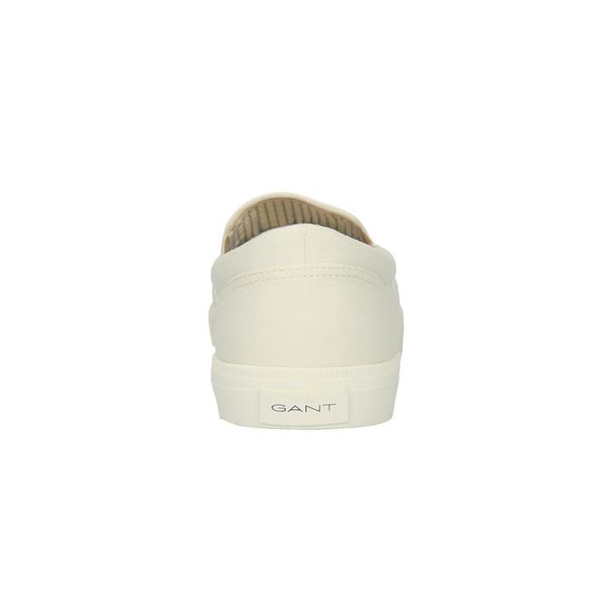 Pánská obuv Slip-On gant, bílá, 839-1005 - 17