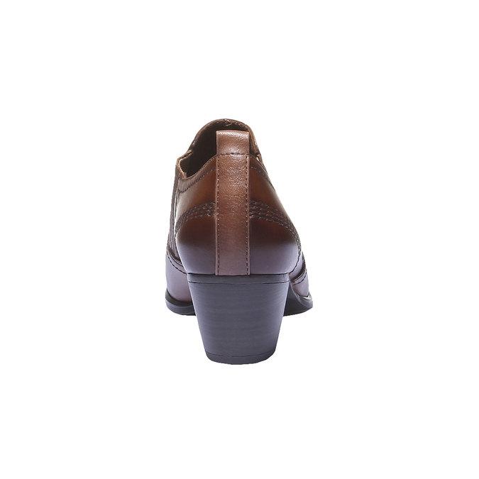 Kožené kotníčkové kozačky bata, hnědá, 616-4100 - 17