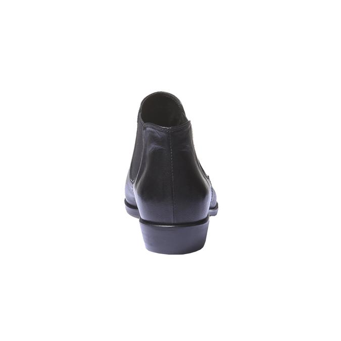 Kožené boty v Chelsea stylu bata, černá, 594-6106 - 17