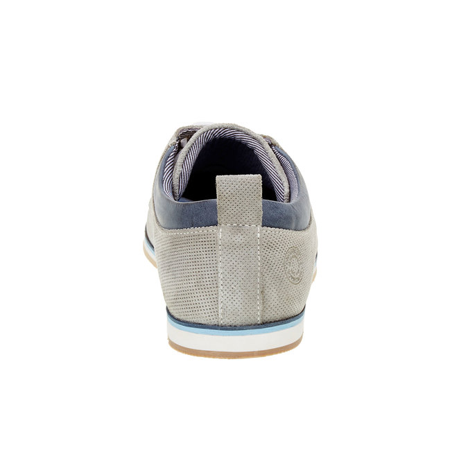 Ležérní kožené polobotky bata, šedá, 826-2107 - 17