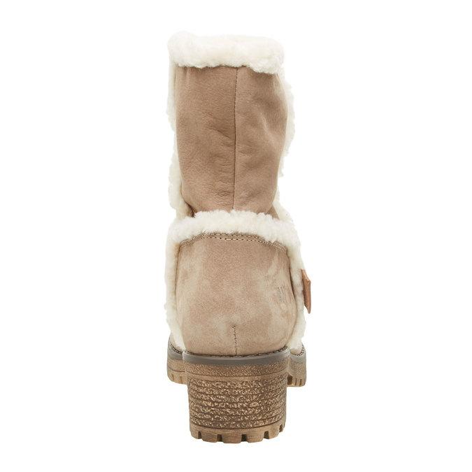 Kožená kotníčková obuv s kožíškem weinbrenner, šedá, 696-2169 - 17