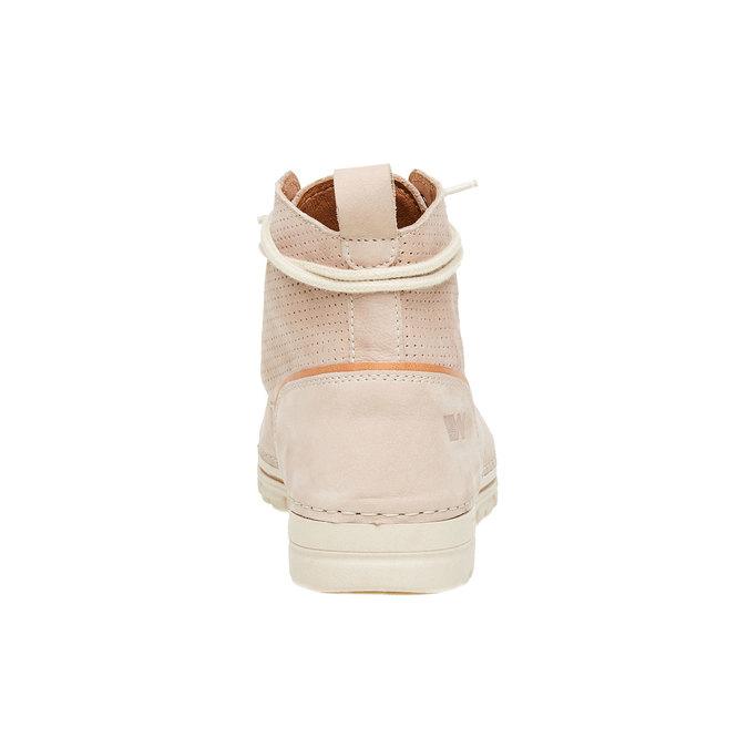Kožené kotníčkové boty weinbrenner, béžová, 594-2531 - 17