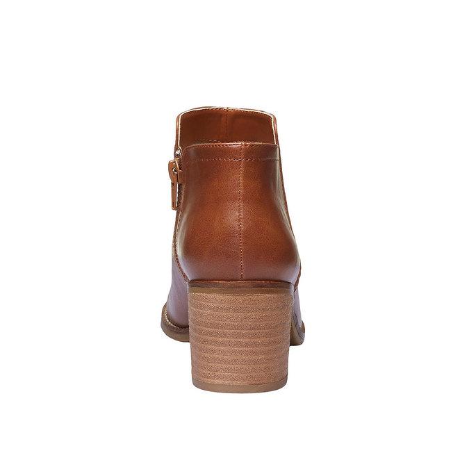Kotníčkové kozačky na širokém podpatku bata, hnědá, 691-3271 - 17