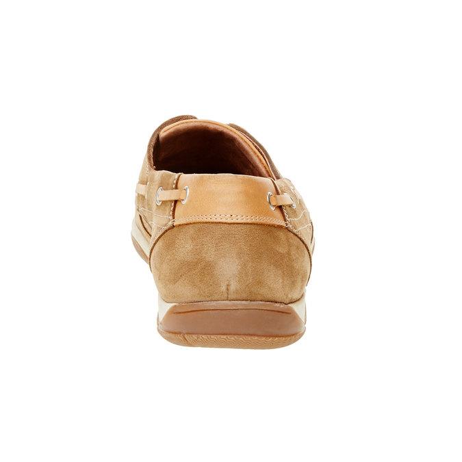 Ležérní kožené mokasíny bata, hnědá, 856-3176 - 17