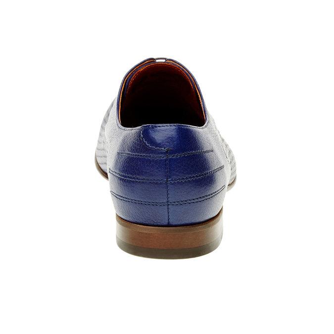 Kožené polobotky s perforací conhpol, modrá, 826-9199 - 17