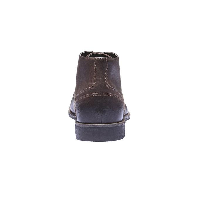 Kožená kotníčková obuv bata, hnědá, 894-4178 - 17