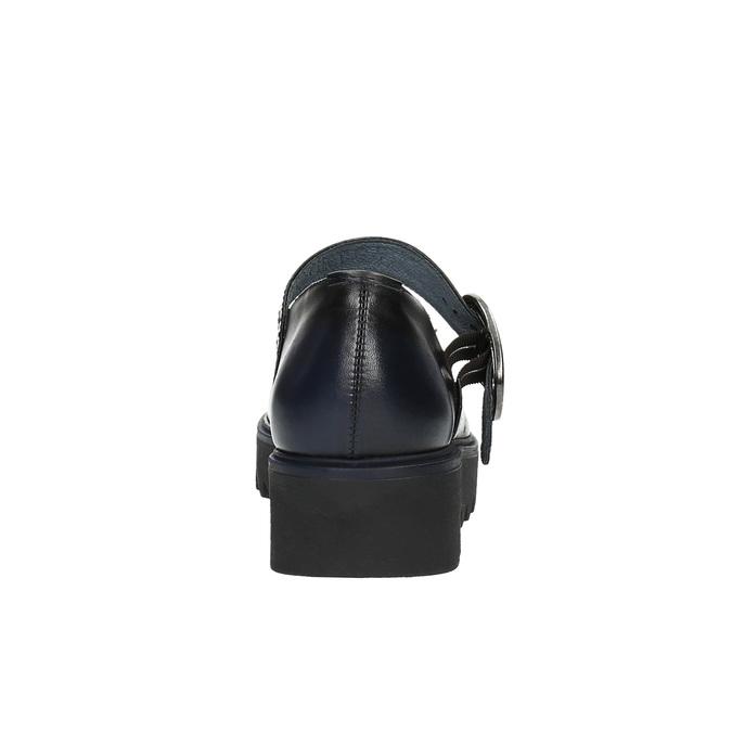 Kožené baleríny na výrazné podešvi bata, černá, 626-9606 - 17