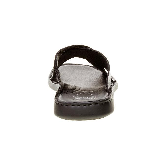 Pánské kožené nazouváky comfit, černá, 874-6161 - 17