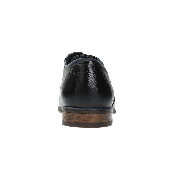 Kožené polobotky v Oxford střihu bata, černá, 824-6812 - 17