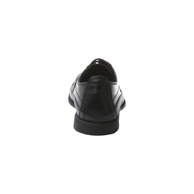 Pánské kožené polobotky bata-comfit, černá, 854-6836 - 17