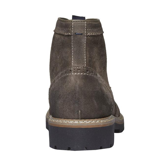 Semišová kotníčková obuv bata, hnědá, 893-2372 - 17