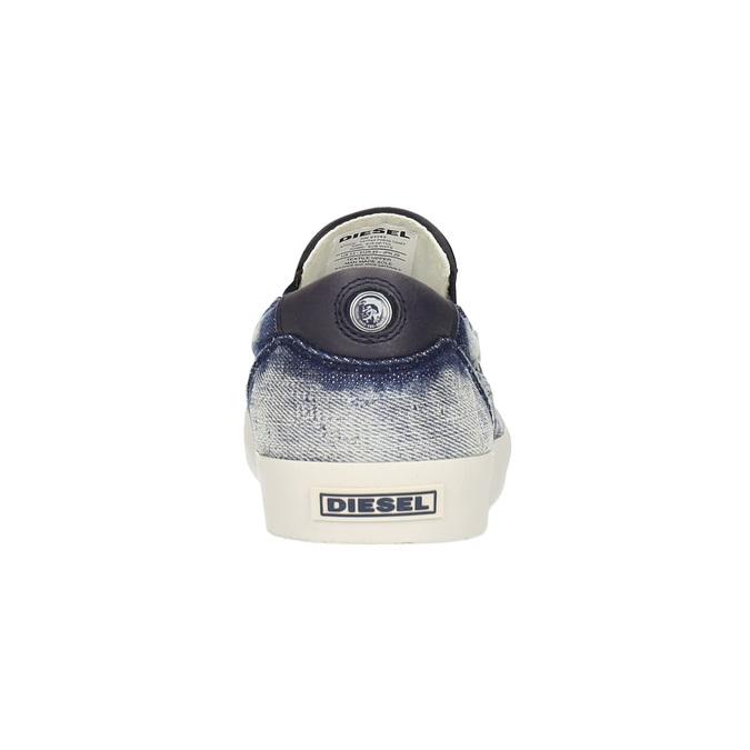 Denimové Slip on boty diesel, modrá, 889-9150 - 17