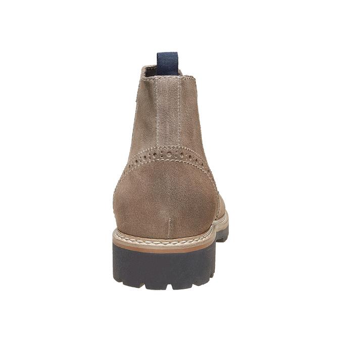 Semišové Chelsea bata, hnědá, 893-2373 - 17