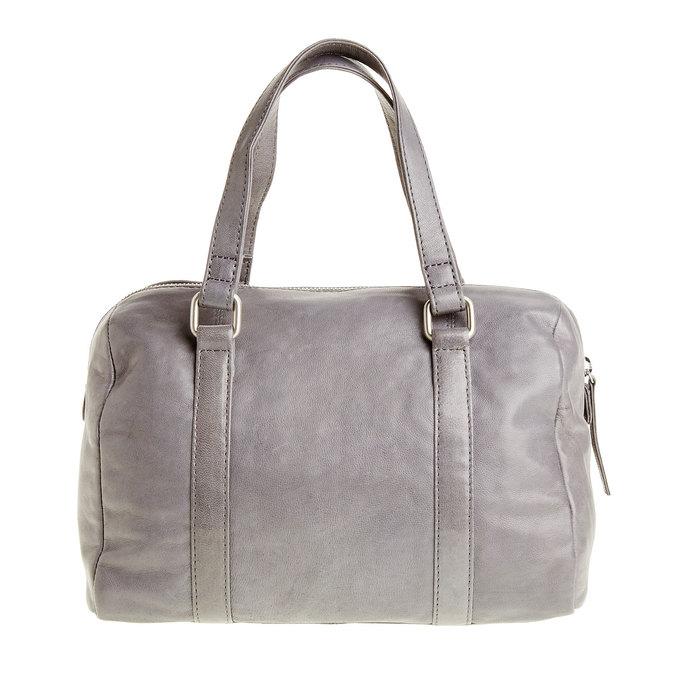Kožená kabelka se střapcem bata, šedá, 964-2190 - 26