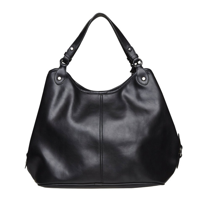 Kabelka v Hobo bag stylu bata, černá, 961-6185 - 26